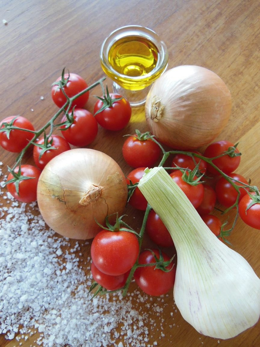 Ingredienser til tomatsuppe