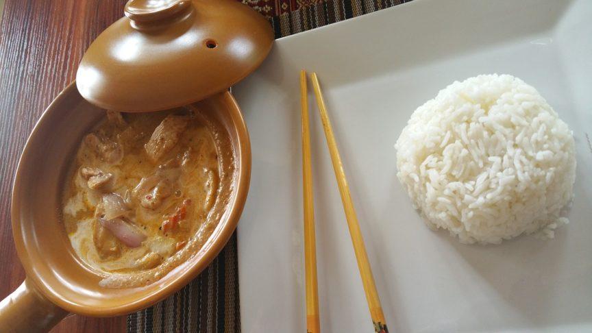 kyllinggryte med kokosmelk og currypaste